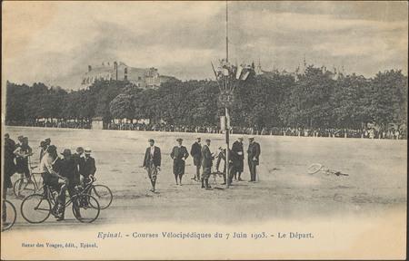Épinal, Courses Vélocipédiques du 7 Juin 1903, Le Départ