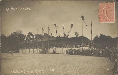 Épinal, Courses cyclistes 1906, En pleine marche
