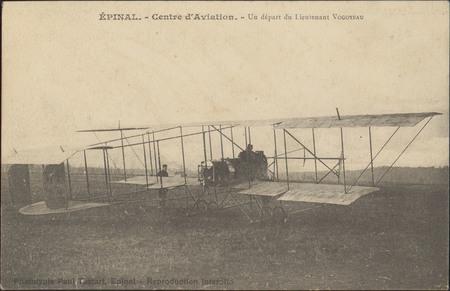 Épinal, Centre d'Aviation, Un départ du Lieutenant Vogoyeau
