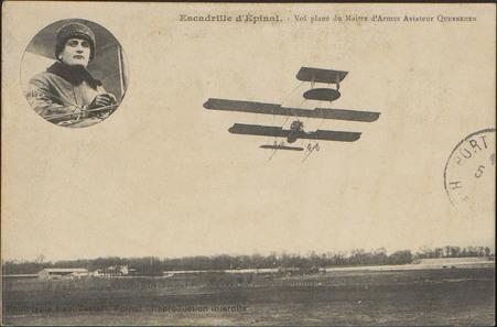 Escadrille d'Épinal, Vol plané du Maître d'Armes Aviateur Quennhen