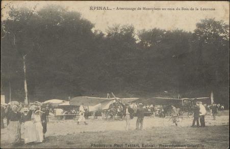 Épinal, Aterrissage de Monoplans au coin du Bois de la Louvroie