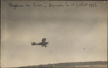 Baptême de l'air, Épinal le 11 Juillet 1922