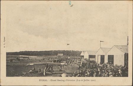 Épinal, Grand Meeting d'Aviation (8-9-10 Juillet 1922)