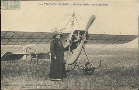 Thaon-les-Vosges, Madame Delait en Aéroplane