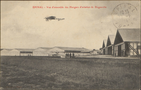Épinal, Vue d'ensemble des Hangars d'aviation de Dogneville