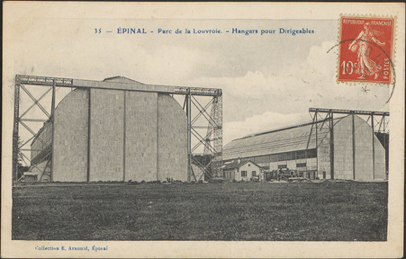 Épinal, Parc de la Louvroie, Hangars pour Dirigeables