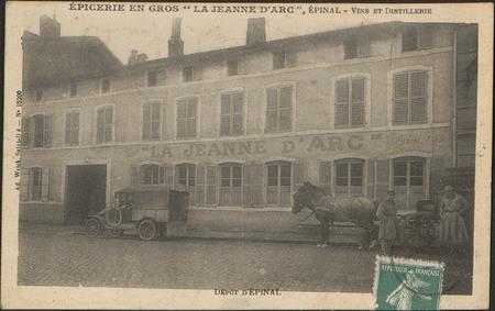 """Epicerie en Gros """"La Jeanne d'Arc"""", Épinal, Vins et distillerie, Dépôt d'É…"""