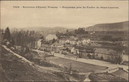 Environs d'Épinal (Vosges), Panorama pris du Viaduc de Saint-Laurent