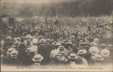 """Le Festival, """"Le Souvenir aux Vosges"""", chanté par 500 choristes"""