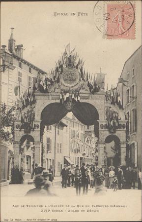 Arc de Triomphe à l'Entrée de la Rue du Faubourg d'Ambrail XVIIe, Amann et…