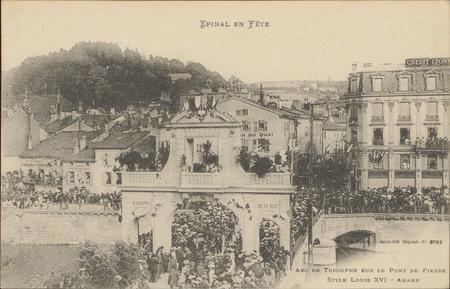 Arc de Triomphe sur le Pont de Pierre, Style Louis XVI, Amann