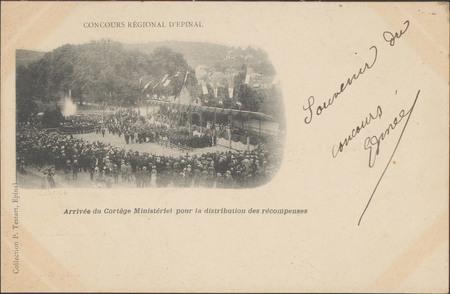Concours régional d'Épinal, Festival de Musique, Arrivée du Cortège Minist…