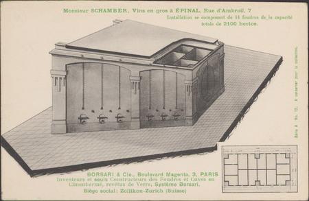 Monsieur Schamber, Vin en gros à Épinal, Rue d'Ambrail […]