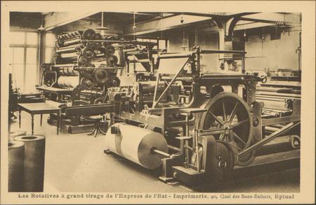Les Rotatives à grand tirage de l'Express de l'Est, Imprimerie, 40 Quai de…