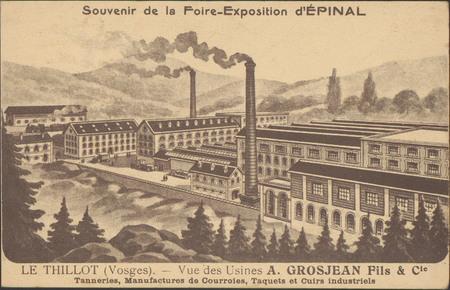 Souvenir de la Foire-Exposition d'Épinal, Le Thillot (Vosges), Vue des Usi…