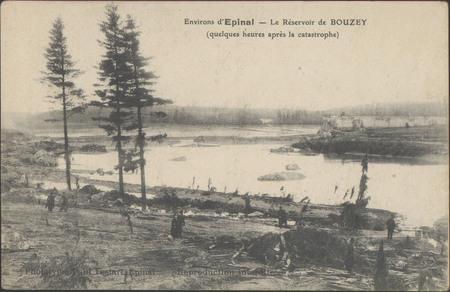 Environs d'Épinal, Le Réservoir de Bouzey (quelques heures après la catast…