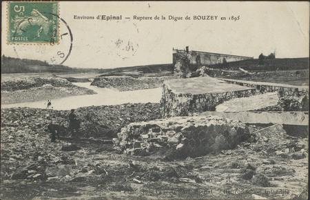 Environs d'Épinal, Rupture de la Digue de Bouzey en 1895