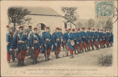 L'Appel du 152e d'infanterie en manœuvres (entre Épinal et Laveline)