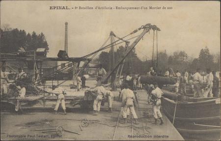 Épinal, 8e Bataillon d'Artillerie, Embarquement d'un Mortier de 220