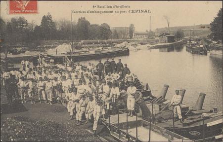8e Bataillon d'Artillerie, Exercices d'embarquement au port d'Épinal