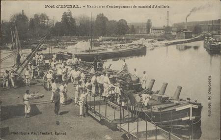 Port d'Épinal, Manœuvre d'embarquement de matériel d'Artillerie