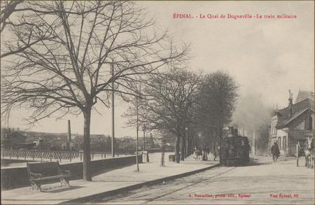 Épinal, Le Quai de Dogneville, Le Train militaire