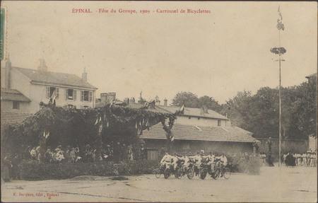 Épinal, Fête du Groupe, 1909, Carrousel de Bicyclettes