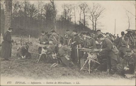 Épinal, Infanterie, Section de Mitrailleurs