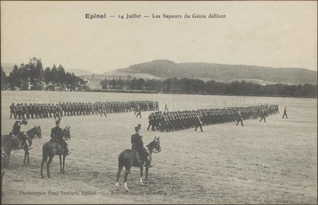 Épinal, 14 Juillet, Les Sapeur du Génie défilent