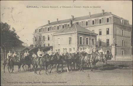 Épinal, Caserne Bonnard, 4e Chasseur à Cheval, Entrée du Quartier