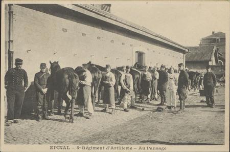 Épinal, 5e Régiment d'Artillerie, Au Pansage