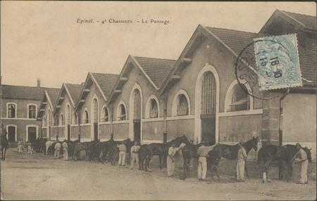 Épinal, 4e Chasseurs, Le Pansage