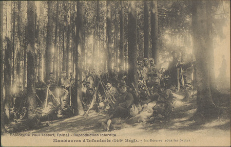 Manœuvre d'Infanterie (149e Rgmt), En Réserve, sous les Sapins