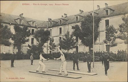 Épinal, Fête du Groupe, 1909, Assaut d'Armes