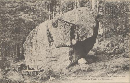 La Pierre Margotte, monolithe erratique porphyroide dans la forêt de Grouv…