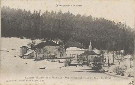 Martinprey (Vosges), L'Ancien Château et la Chapelle, Vue d'ensemble prise…