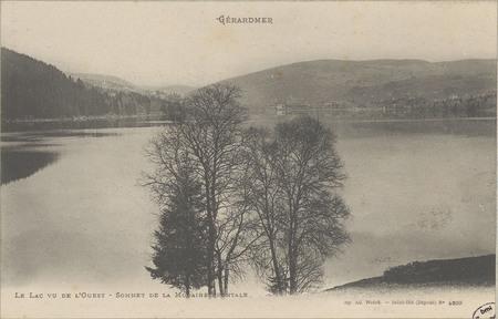 Gérardmer, Le Lac vu de l'Ouest, Sommet de la Moraine frontale