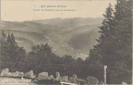Vallée de Munster vue de l'Altenberg