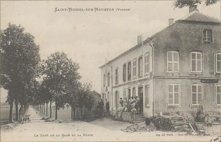 Saint-Michel-sur-Meurthe (Vosges), Le Café de la Gare, et la Poste