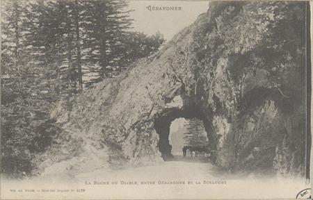 Gérardmer, La Roche du Diable, entre Gérardmer et la Schlucht