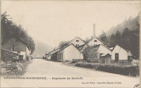 Gérardmer-Kichompré, Papeterie du Kertoff