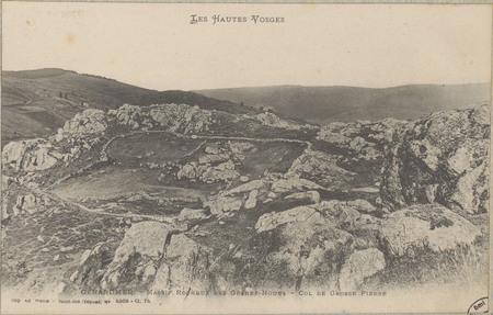 Gérardmer, massif rocheux des Grands-Noues, Col de Grosse Pierre