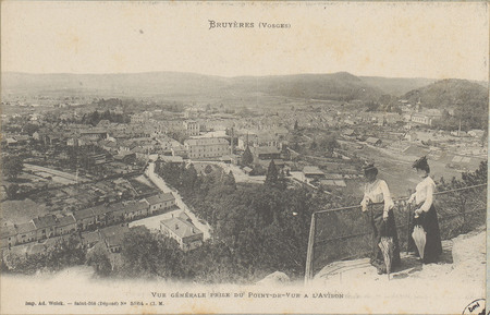 Bruyères (Vosges), Vue générale prise du Point-de-vue à l'Avison