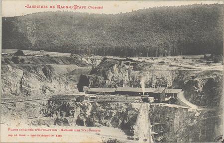 Carrières de Raon-L'Etape (Vosges), Plans inclinés d'Extraction, Garage de…