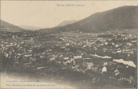 Raon-L'Etape (Vosges), Vue générale de Raon et de Laneuveville