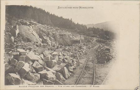 Saulxures-sur-Moselotte, Société française des granits, Vue d'une des carr…