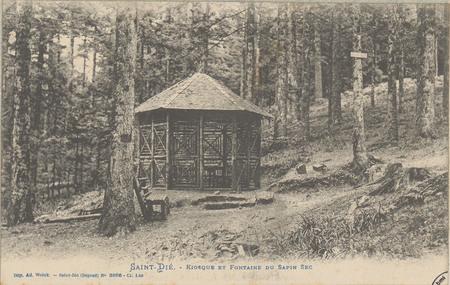 Saint-Dié, Kiosque et Fontaine du Sapin Sec