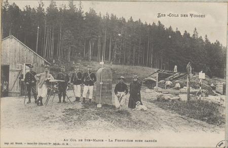 Au Col de Ste-Marie, La Frontière bien gardée