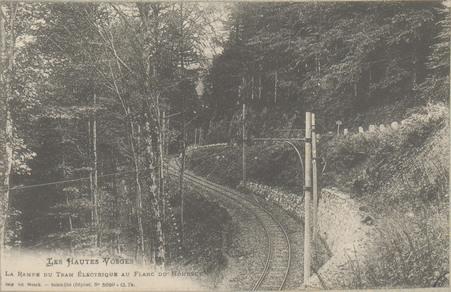 La Rampe du Tram électrique au flanc du Hohneck