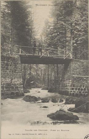 Moussey (Vosges), Vallée des Chavons, pont du Bouton